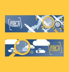 flight search and airplane tickets service concept vector image