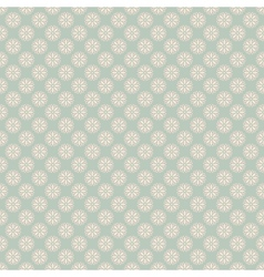 Floral seamless pattern with dots tiling vector image