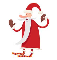 funny santa claus character cartoon vector image