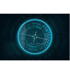 futuristic gadget in hud style vector image