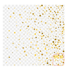 Gold glitter corners for frame or border vector