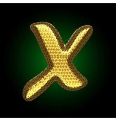 golden letter vector image