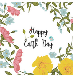 greeting card of the earth day vector image