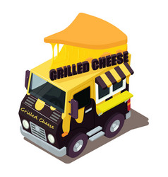 Grilled cheese machine icon isometric style vector