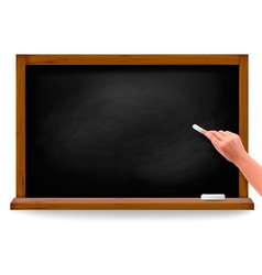 Hand writing on a blackboard vector
