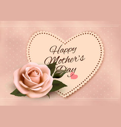 happy mothers day background with a heart-shaped vector image