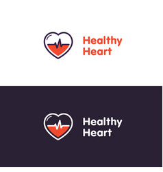 Heart logo design template healthy heart vector