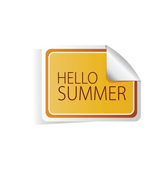 Hello summer sticker color vector