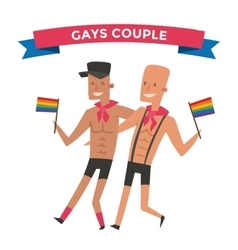 Homosexual gay people couple vector image