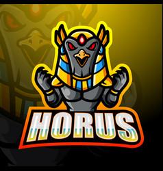 Horus mascot esport logo design vector
