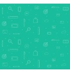 Icons analytics background set sketch vector