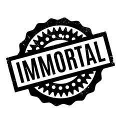 Immortal rubber stamp vector