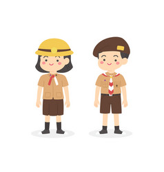 indonesian pramuka scout elementary school uniform vector image