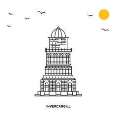 Invercargill monument world travel natural vector