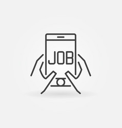 Job in smartphone icon vector