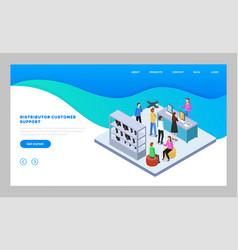 landing page website distributor customer vector image