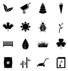 lawn icon set vector image