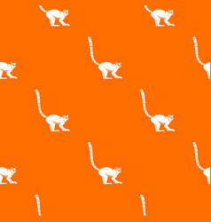 lemur monkey pattern seamless vector image