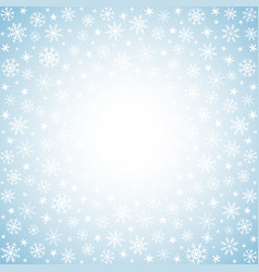 Light winter background with hand drawn snow vector