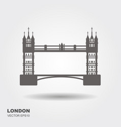 London bridge logo attraction of the capital of vector