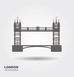 london bridge logo attraction of the capital of vector image