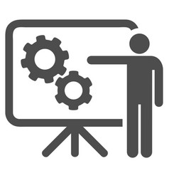 Mechanical gears project board icon vector