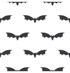 monochrome pattern bat on a white vector image