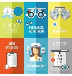 Oculist mini poster set vector
