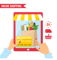 online shopping e-commerce concept vector image