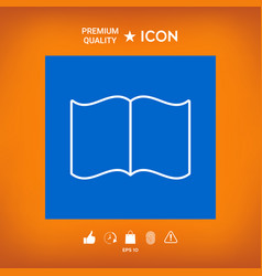 Open book symbol icon vector