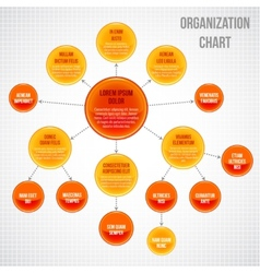Organizational chart infographic vector