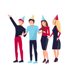 partying people on white vector image