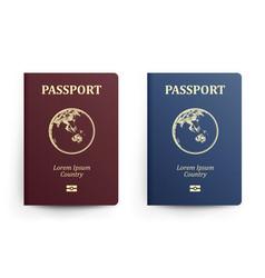 Passport with map australia realistic vector