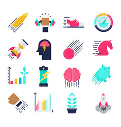 Performance flat icons vector