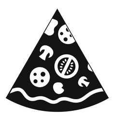 Pizza slice icon simple style vector