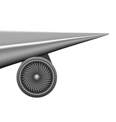 plane wing with engine turbine concept vector image