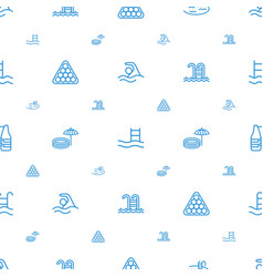 pool icons pattern seamless white background vector image