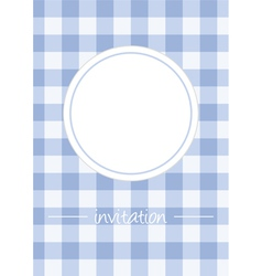 Retro blue vintage card or invitation with checker vector