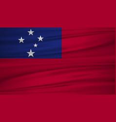 Samoa flag flag of samoa blowig in the wind eps vector