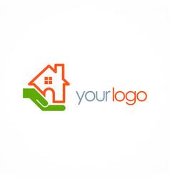 Save house hand logo vector