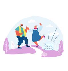 senior married couple dancing sparetime elderly vector image
