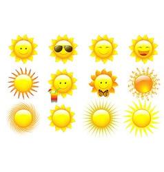 Set Suns vector