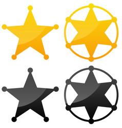 Sheriffs badges vector