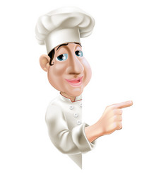 side pointing chef vector image