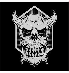 Skull monster evil head vector