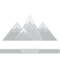snowy mountains isolated vector image