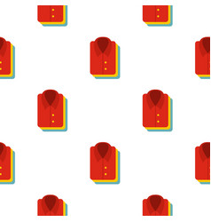 Stack of clothing pattern flat vector