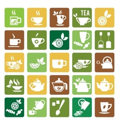 Tea Time Icons vector image