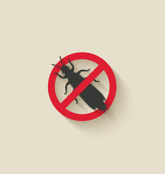 Thrips silhouette pest icon stop sign vector