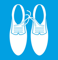 tied laces on shoes joke icon white vector image